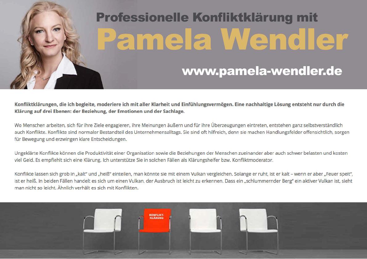 Professionelle Konfliktklärung mit Pamela Wendler
